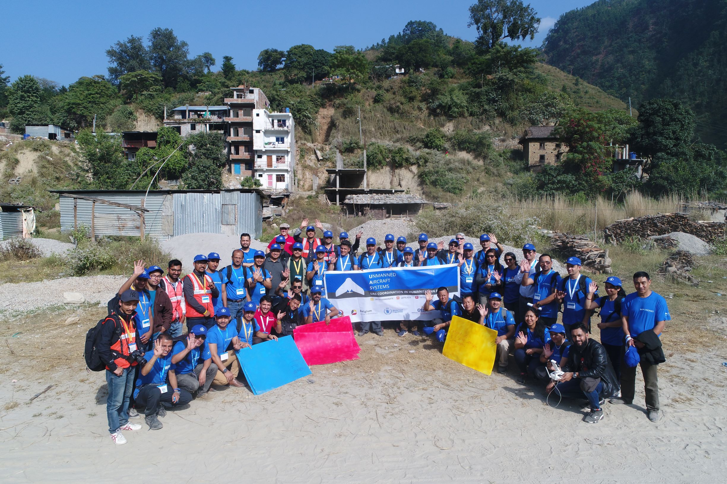 Participants of the WFP Drones training in Katmandu, Nepal. Photo: WeRobotics / Subash Gurung