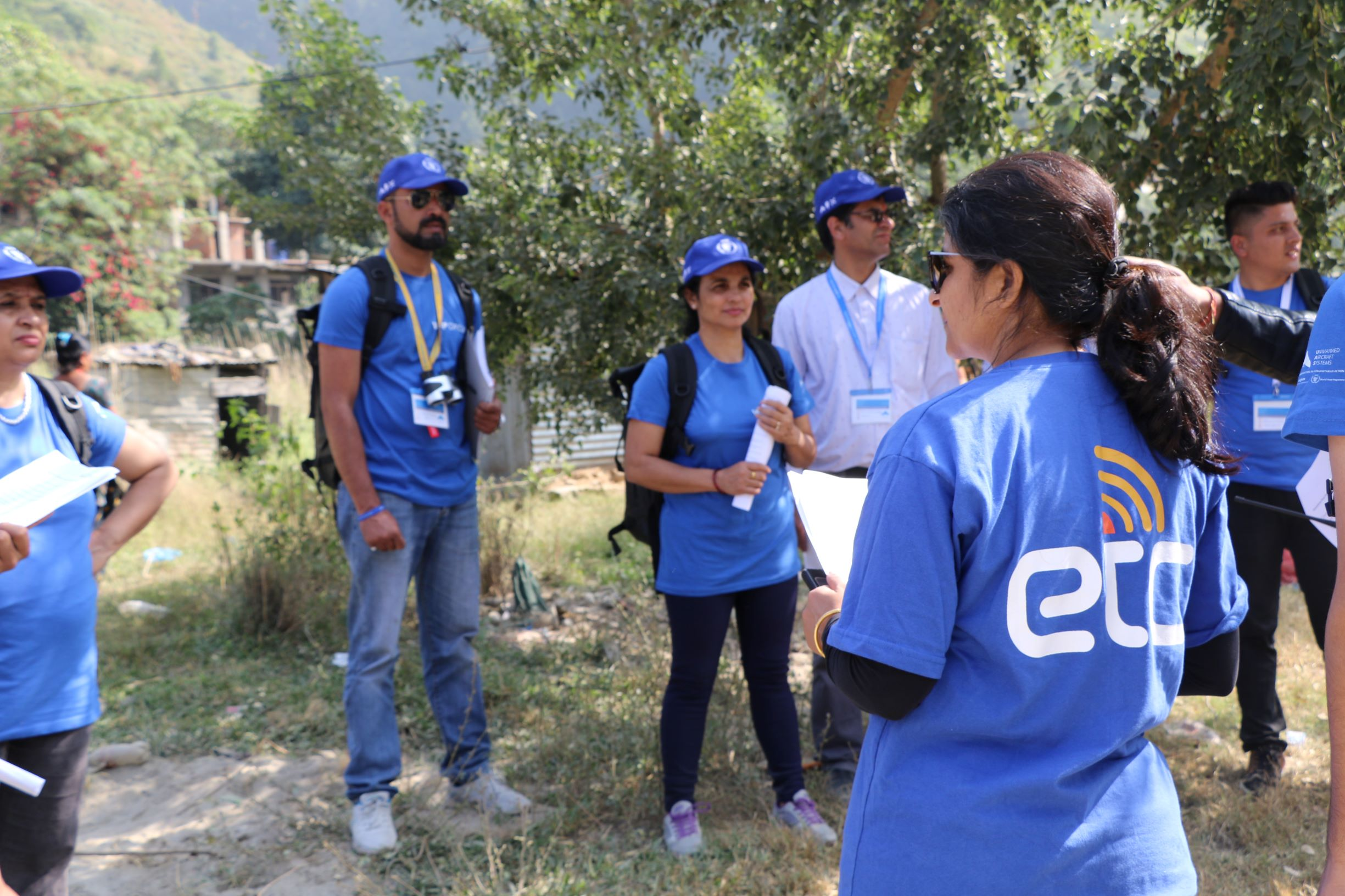 Bhawana in her ETC shirt during the WFP Drones capacity building. Photo: WeRobotics / Subash Gurung