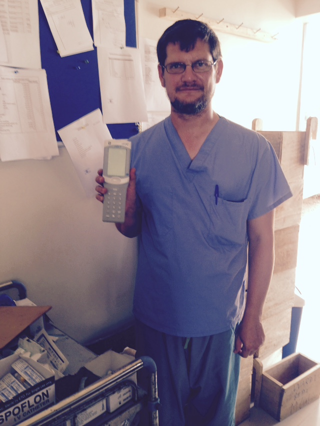 (Image) Dr. Aaron Highfill works as a physician at the Port Loko Government Hospital and Ebola Holding Centre as well as for Partners in Health. Photo credit: WFP